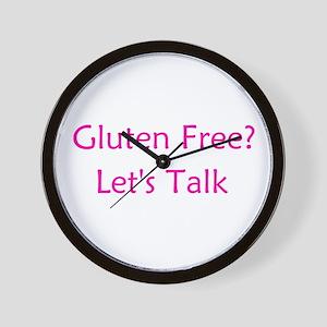 Gluten Free? Let's Talk Wall Clock