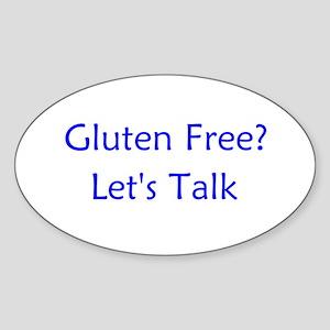 Gluten Free? Let's Talk Oval Sticker