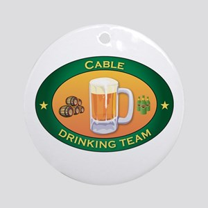 Cable Team Ornament (Round)