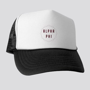 Alpha Phi Geometric Trucker Hat