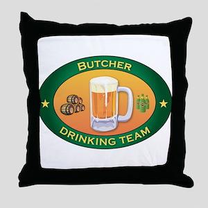 Butcher Team Throw Pillow