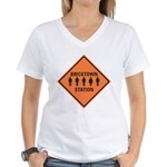 bricktown station Women's V-Neck T-Shirt