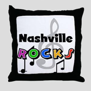 Nashville Rocks Throw Pillow