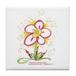 "Daisy ""Birthday"" Tile Coaster"