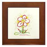 """Daisy """"Birthday"""" Framed Tile"""