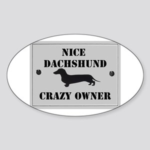 Nice Dachshund Oval Sticker
