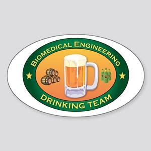 Biomedical Engineering Team Oval Sticker