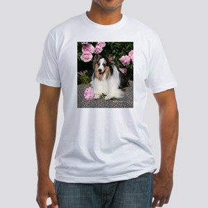Happy Blue Merle Sheltie Fitted T-Shirt