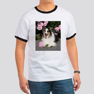 Happy Blue Merle Sheltie Ringer T