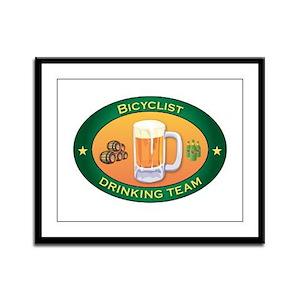Bicyclist Team Framed Panel Print