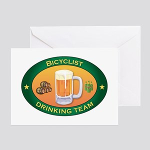 Bicyclist Team Greeting Card