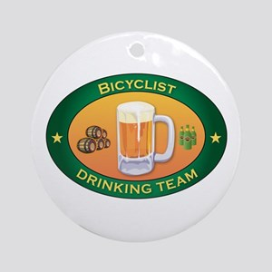 Bicyclist Team Ornament (Round)