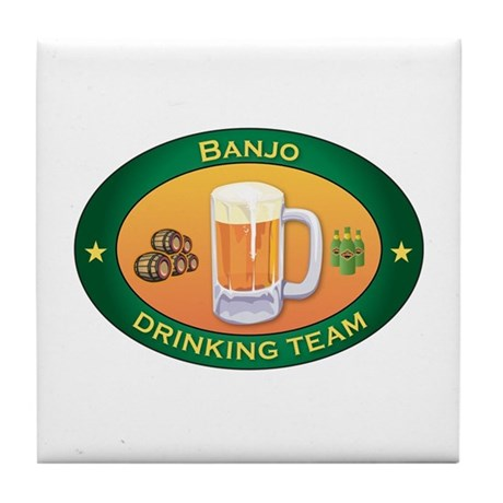 Banjo Team Tile Coaster