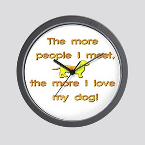 Love My Dog Wall Clock