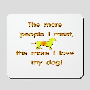 Love My Dog Mousepad