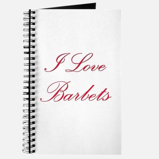 I Love Barbets Journal