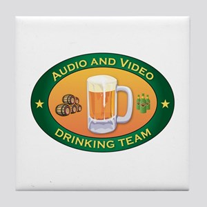 Audio and Video Team Tile Coaster