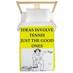 Tennis joke Twin Duvet Cover