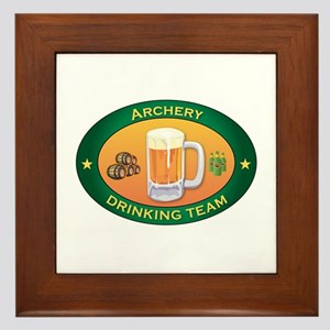 Archery Team Framed Tile