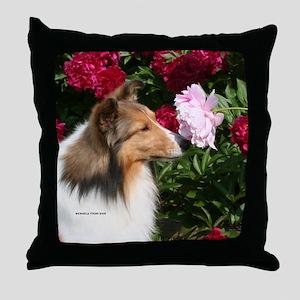 Sable Flower Throw Pillow