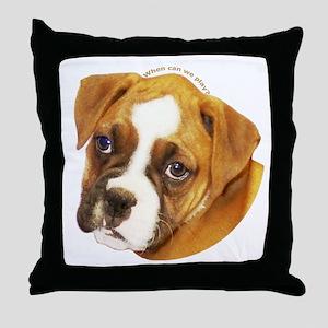 Boxer Puppy Throw Pillow