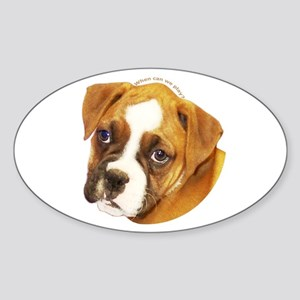 Boxer Puppy Oval Sticker