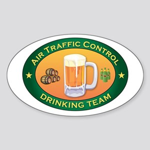 Air Traffic Control Team Oval Sticker