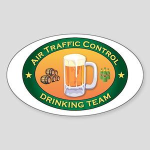 Air Traffic Control Team Oval Sticker