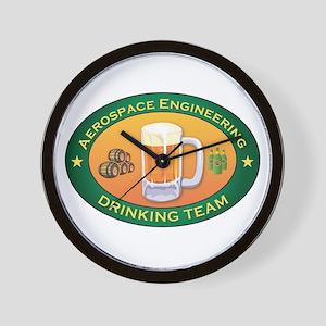 Aerospace Engineering Team Wall Clock