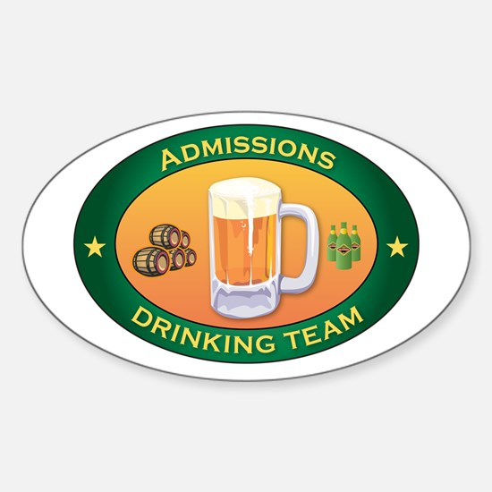 Admissions Team Oval Decal