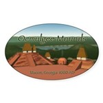 Ocmulgee Mounds Oval Sticker