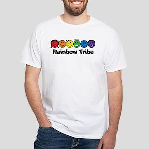 Rainbow Tribe White T-Shirt