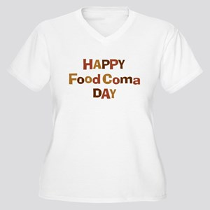 Thanksgiving - Food Coma Day Women's Plus Size V-N