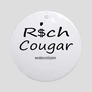 RICH COUGAR Ornament (Round)