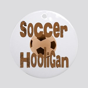 Soccer Hooligan Ornament (Round)