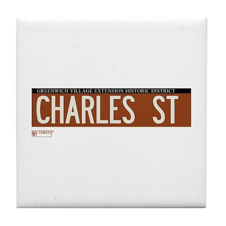 Charles Street in NY Tile Coaster