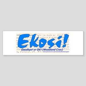 'Ekosi!': Bumper Sticker