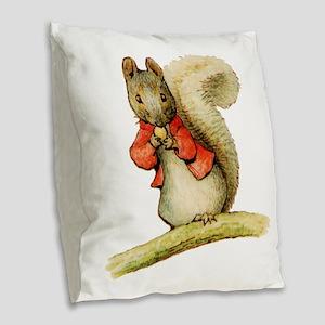Timmy Tiptoes Burlap Throw Pillow