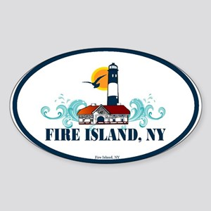 Fire Island Oval Sticker