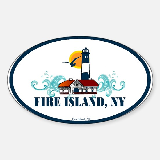 Fire Island Oval Decal