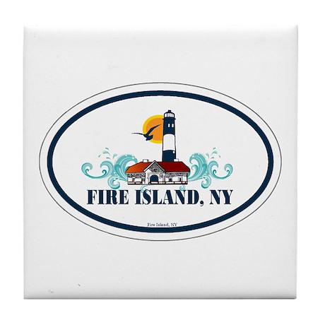 Fire Island Tile Coaster