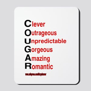 COUGARS ARE Mousepad