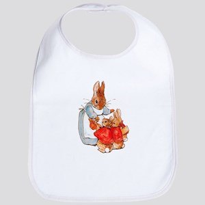 Flopsy, Mopsy and Cottontail Cotton Baby Bib