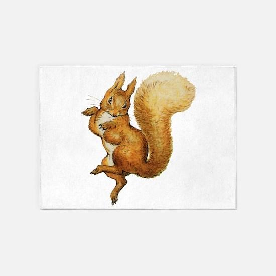 Squirrel Nutkin 5'x7'Area Rug