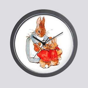 Flopsy, Mopsy and Cottontail Wall Clock