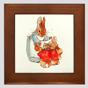 Flopsy, Mopsy and Cottontail Framed Tile