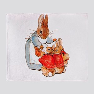 Flopsy, Mopsy and Cottontail Throw Blanket