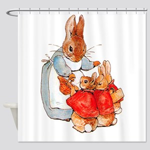 Flopsy, Mopsy and Cottontail Shower Curtain