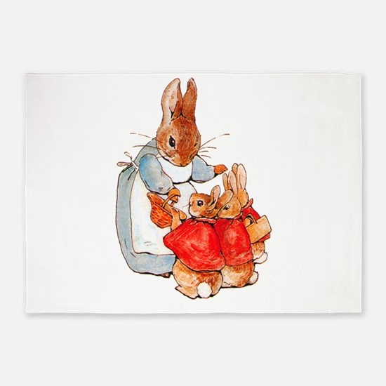 Flopsy, Mopsy and Cottontail 5'x7'Area Rug