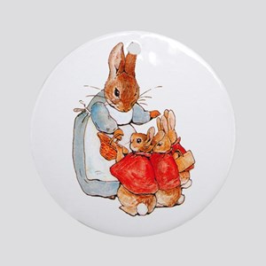 Flopsy, Mopsy and Cottontail Round Ornament